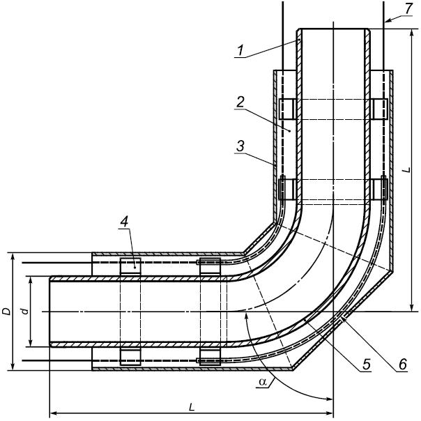 Конструкция отвода ППУ изоляции
